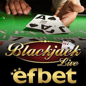 Blackjack на Живо от EFBET.COM